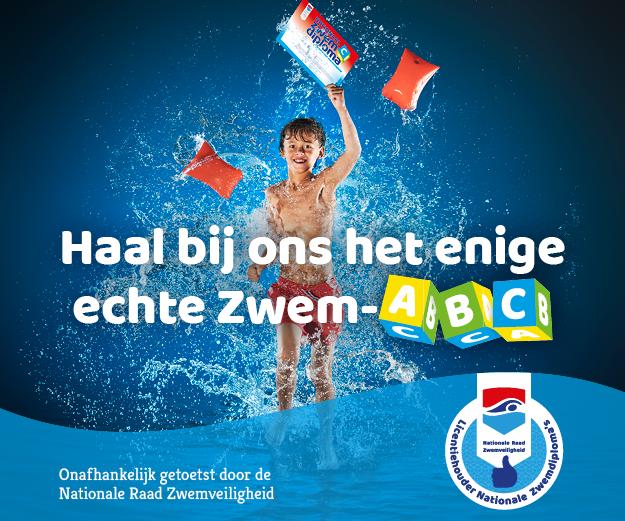 Haal bij ons je ABC zwemdiploma